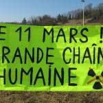 Action rond point Méximieux STOP BUGEY - 21 février 2012 - Chaine humaine lyon avignon 11 mars 2012